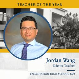 Congratulations Teacher of the Year, Jordan Wang!